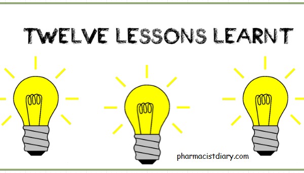Pharmacy lessons learnt